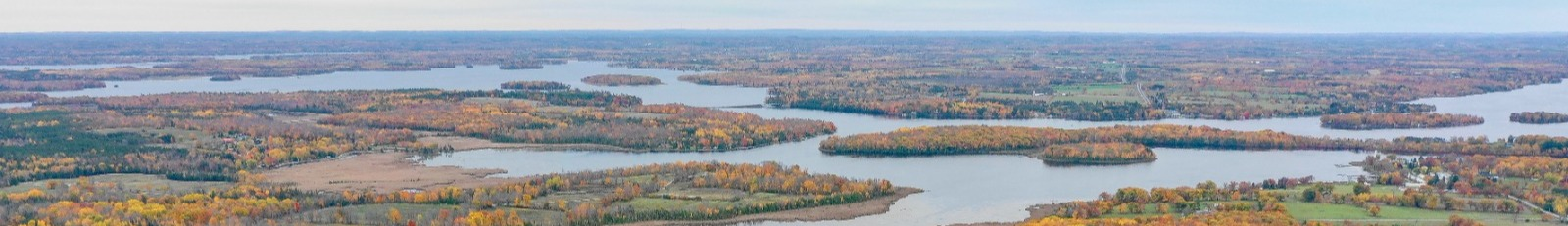 Aerial photo of Trent Lakes