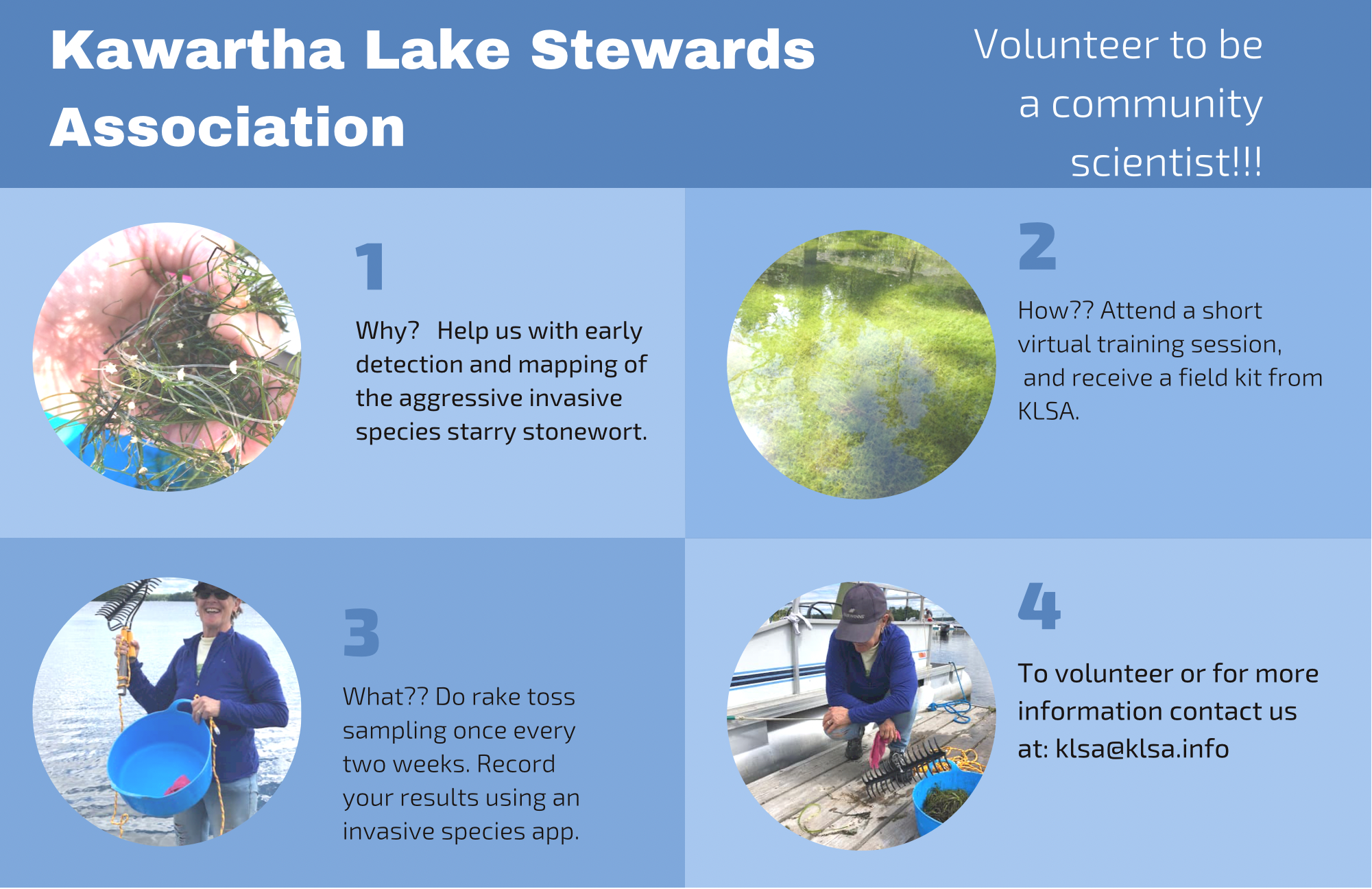 Infographic about volunteering to be a community scientist