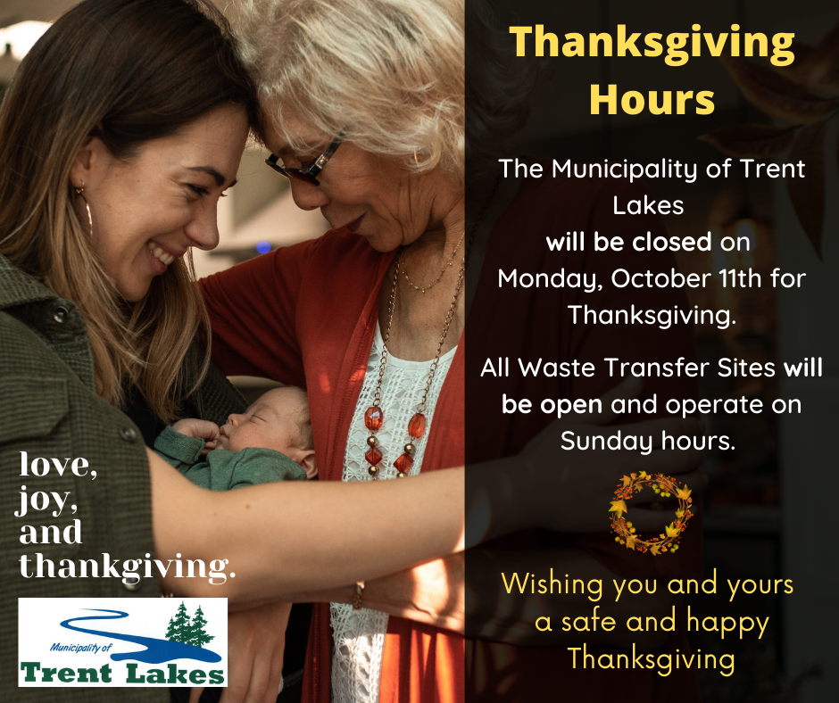 Infographic of thanksgiving hours showing a grandmother, mother and baby embracing